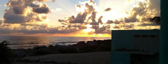 Sunrise at Mara Villa, Isla Mujeres