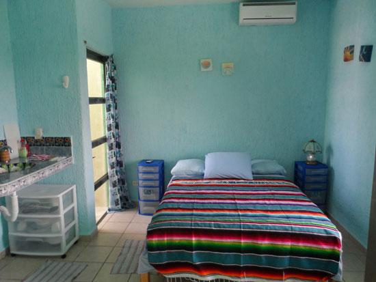 Double bed in Studio Arriba