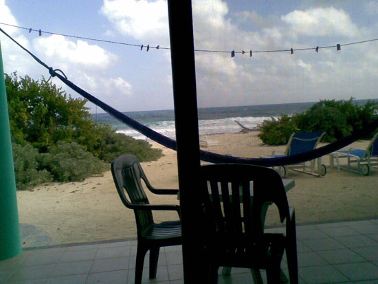 The view from all our studios - step right out onto the beach