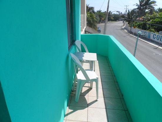 The street side balcony from Studio Arriba